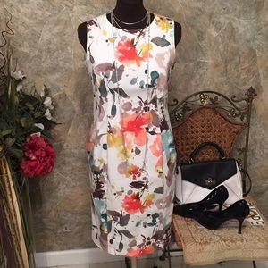 Evan Picone stretch stunning floral bouquet dress
